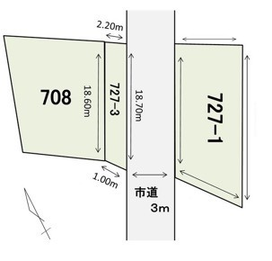 函館市石崎町・土地の間取り画像